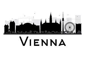 Vienna City Skyline Silhouette