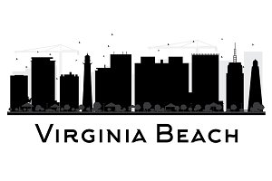 Viginia Beach City Silhouette