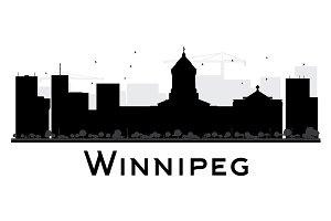 Winnipeg City Skyline Silhouette