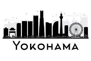 Yokohama City Skyline Silhouette