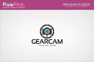 Gear Camera Logo Template