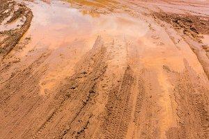Marshy road