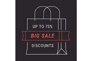 Black big sale advert banner
