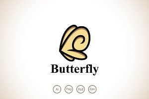 Lovely Butterfly Logo Template