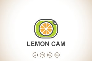 Lemon Camera Logo Template