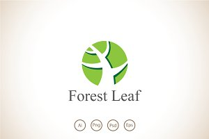 Forest Leaf Logo Template