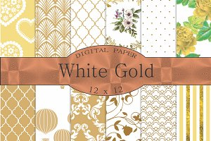 White gold digital paper