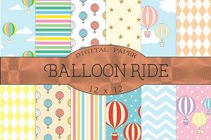 Balloon ride, hot air balloons