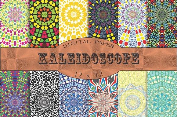Kaleidoscope Patterns Graphic Patterns Creative Market Simple Kaleidoscope Patterns