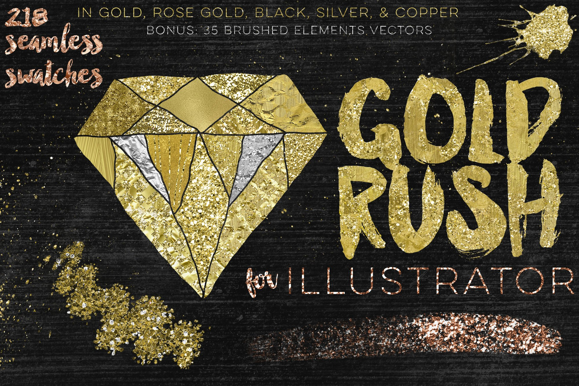 Gold Rush For Illustrator ~ Palettes ~ Creative Market
