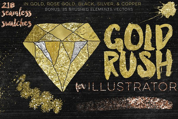 Palettes: Studio Denmark - Gold Rush For Illustrator
