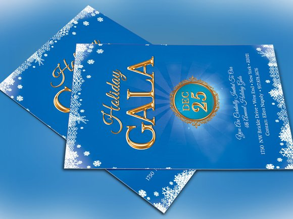 Winter Festival Christmas Invitation Invitation Templates – Gala Invitation Template