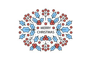 Christmas greeting card wreath