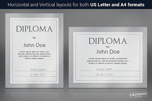 Gray Diploma Template
