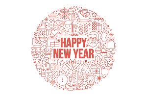 Happy New Year composition