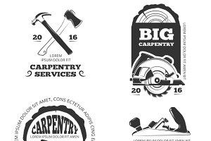 Vintage carpentry & woodwork labels