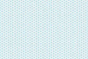 Cyan isometric grid on a4 sheet