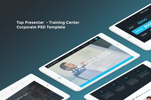 Top Presenter - Training Center PSD