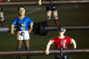 metal soccer players, table football