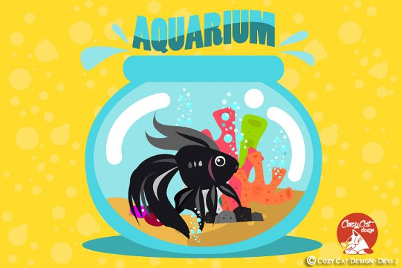 Digital Clipart Aquarium