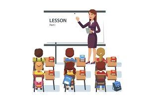 Modern school lesson