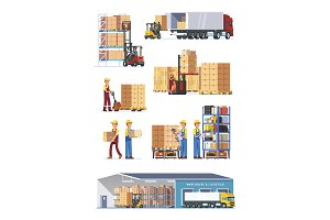 Logistics illustrations collection