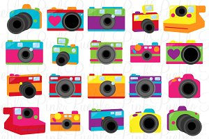 Retro Cameras Clip Art and Vectors