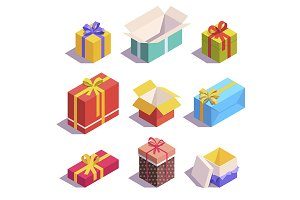 Present and gift boxes