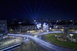 Night city long exposure