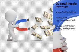 3D Small People - Money Magnet