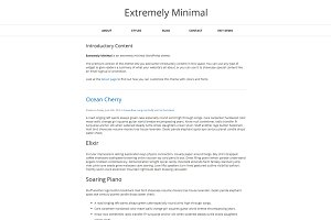 Extremely Minimal WordPress Theme