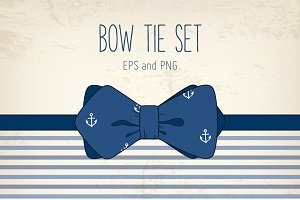 Vector bow tie set