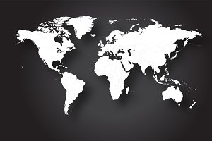 World map vector white color