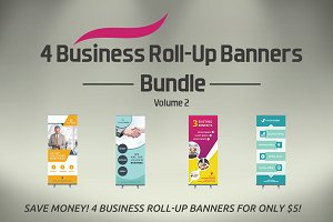 4 Business Roll-Up Banners - SK