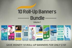 10 Roll-Up Banners  Bundle - SK