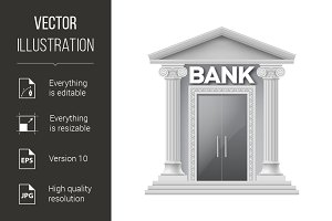 Stone building of bank