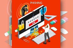 Phishing Concept Isometric