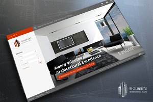 Holbert's - Real Estate Concept PSD