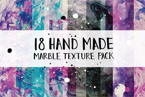 18 Hand Made Marble Texture Pack
