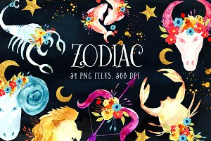 Zodiac Watercolor