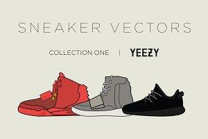 Yeezy Sneaker Vectors