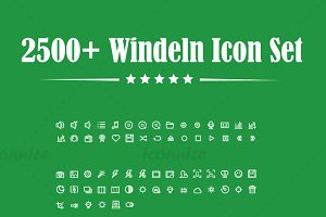 2500+ Windeln Icon Set