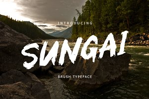 Sungai Brush Typeface