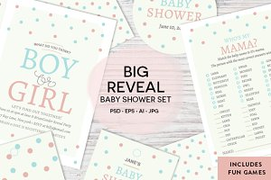 Boy or Girl Baby Shower Set