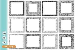 8 Inch Square Frames
