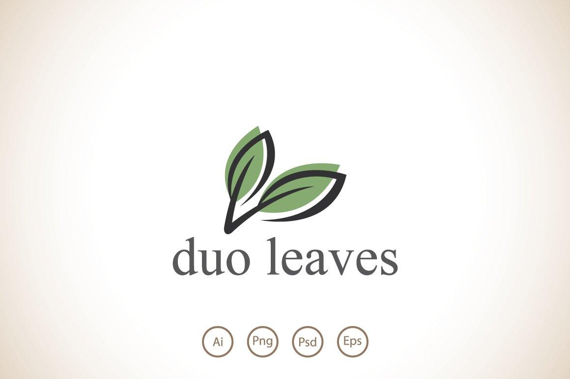Duo Leaves Logo Template ~ Logo Templates ~ Creative Market