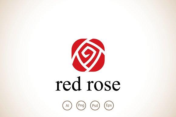Red Rose Logo Template Logo Templates Creative Market
