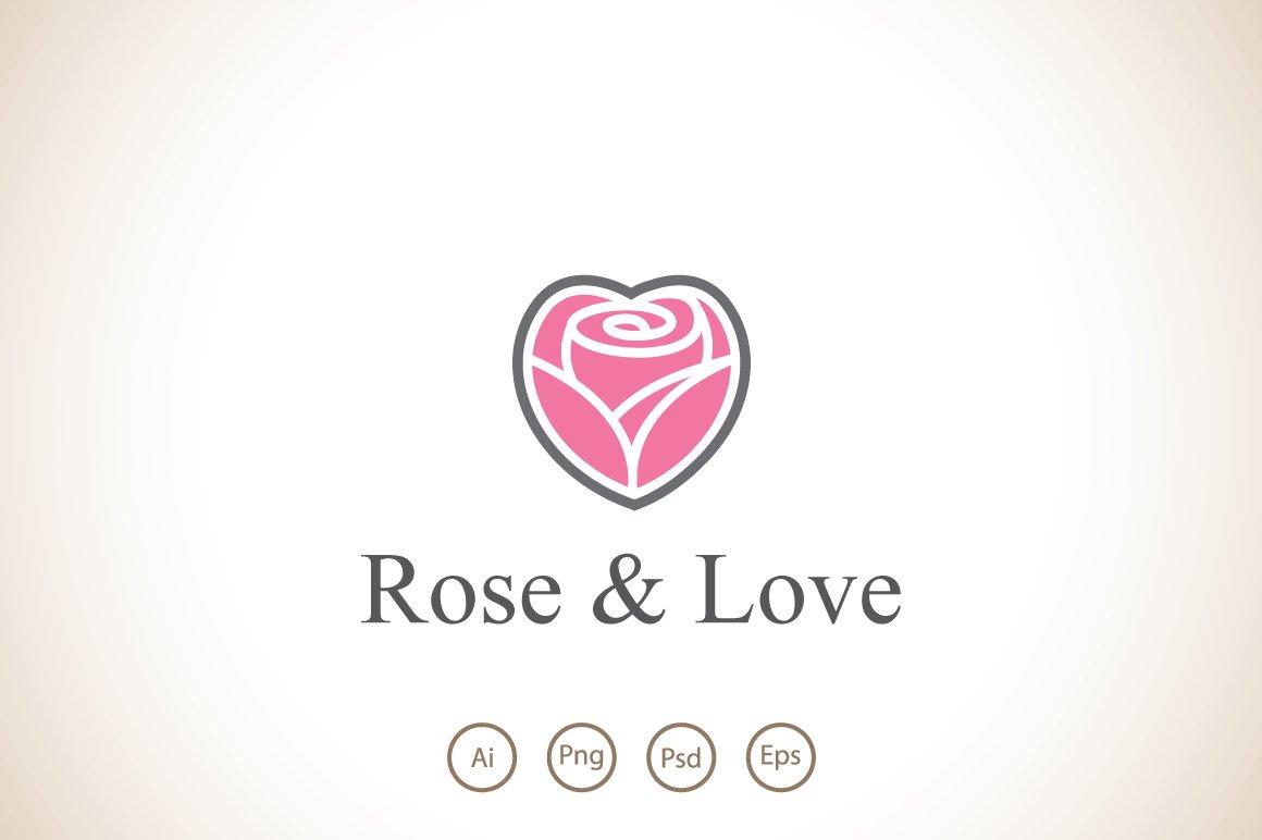 Rose And Love Logo Template Logo Templates Creative Market