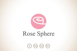 Rose Sphere Logo Template