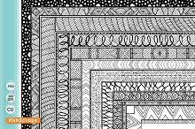 Hand Drawn 8 x 10 Digital Borders